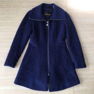 Guess Blue Peacoat Jacket Coat Womens Size Medium
